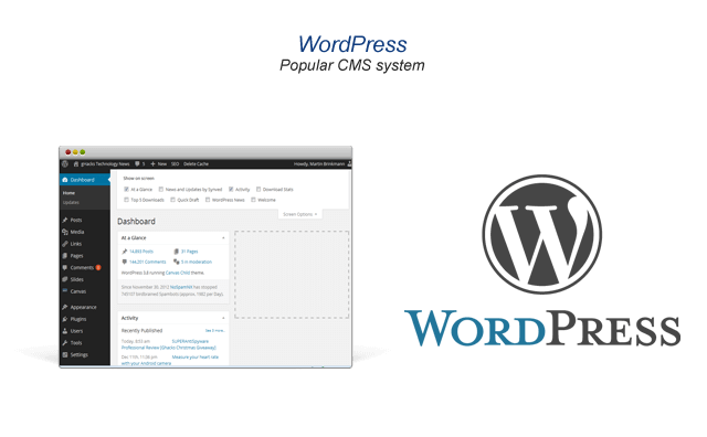 WordPress easily for websites and blogs
