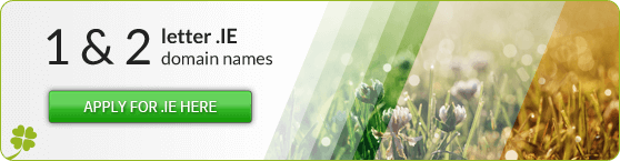 1 & 2 letter .IE domain names